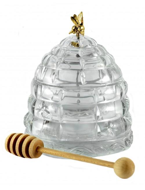 Barattolo per miele, cristallo trasparente, diametro 118 mm