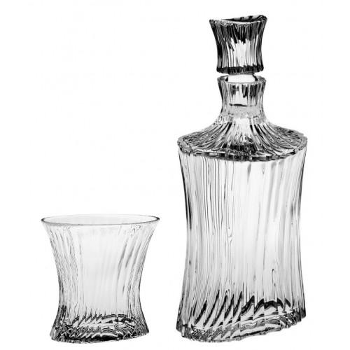 Set Whisky Orcan 1+6, cristallo trasparente