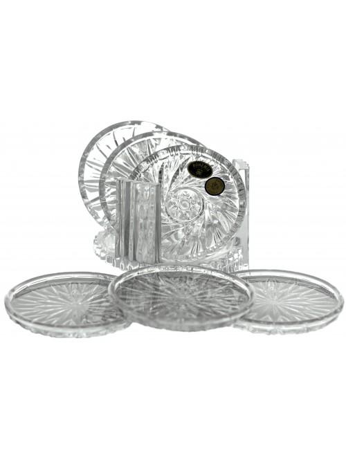 Set di sottobicchieri, cristallo trasparente