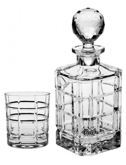 Set Whisky Timesquare 1+6, cristallo trasparente
