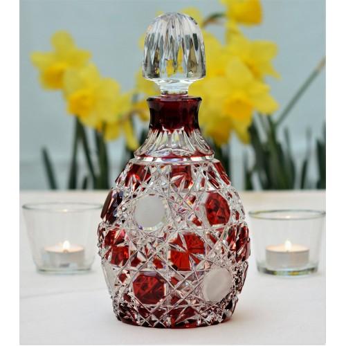 Bottiglia Flake, cristallo, colore rosso, volume 700 ml