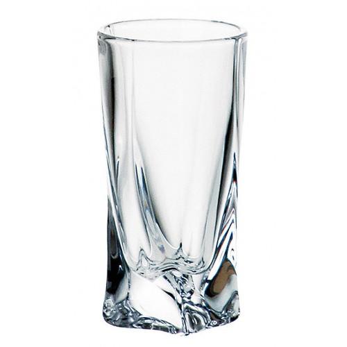 Bicchiere Quadro, vetro trasparente, volume 50 ml