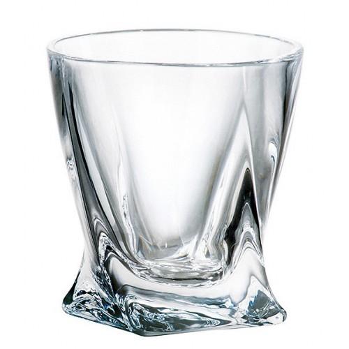 Bicchiere Quadro, vetro trasparente, volume 55 ml
