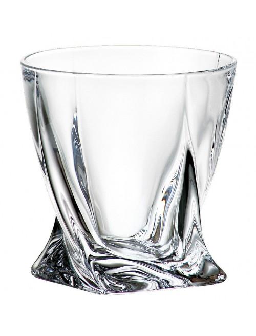 Bicchiere Quadro, vetro trasparente, volume 340 ml