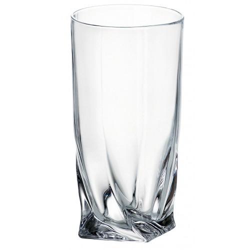 Bicchiere Quadro, vetro trasparente, volume 350 ml