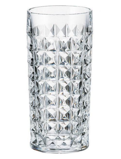 Bicchiere Diamond, vetro trasparente, volume 260 ml