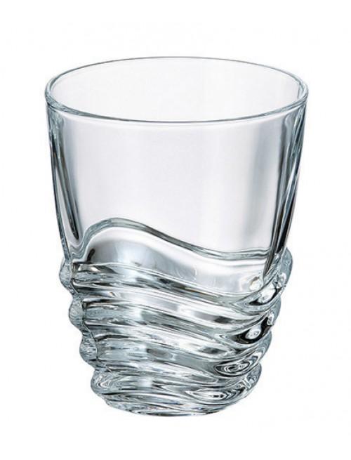 Bicchiere Wave, vetro trasparente, volume 280 ml