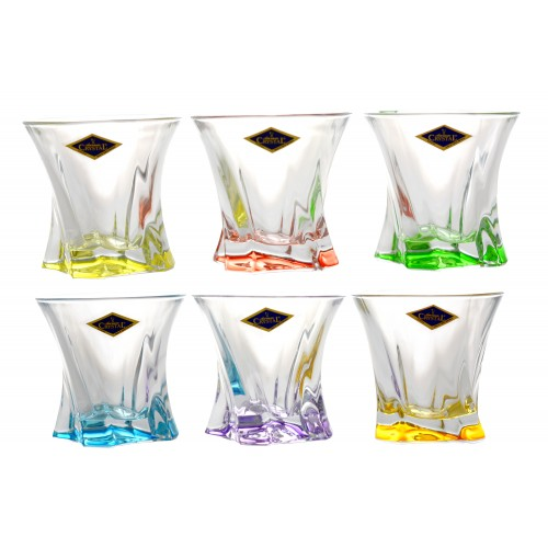 Set bicchieri Cooper 6x, vetro, multicolore, volume 320 ml