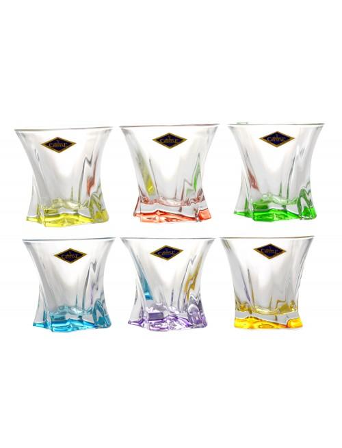 Set bicchieri Cooper 6x, vetro, multicolore, volume 320 ml