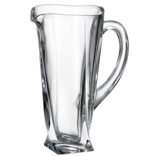 Brocca Quadro, vetro trasparente, volume 1100 ml