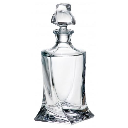 Bottiglia Quadro, vetro trasparente, volume 850 ml
