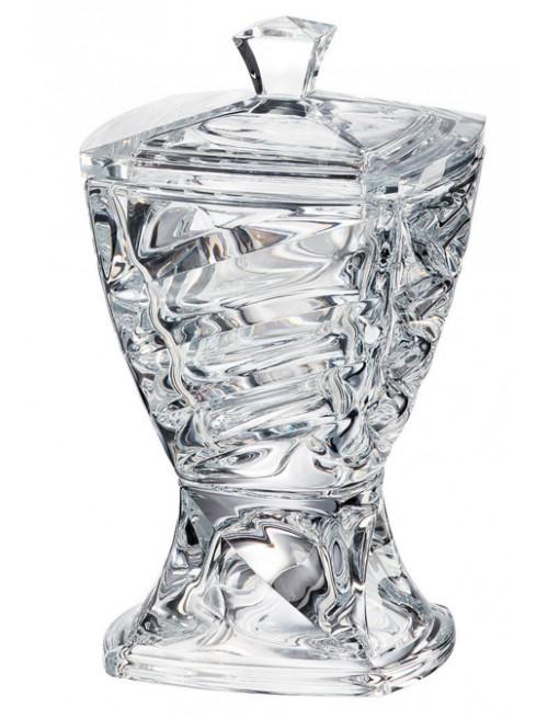 Confettiera Facet, vetro trasparente, diametro 245 mm