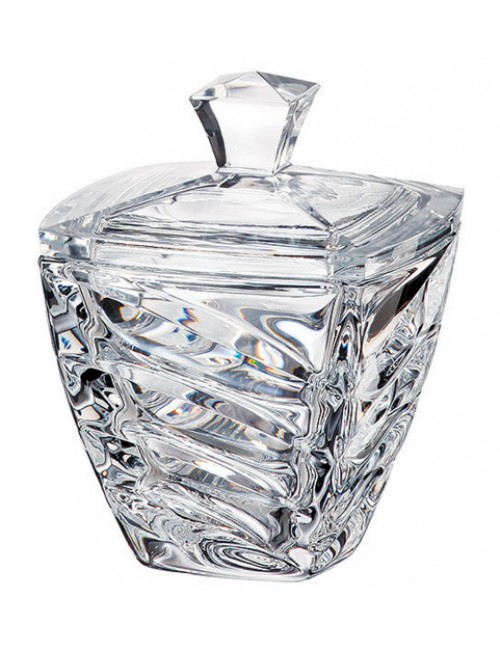 Confettiera Facet, vetro trasparente, diametro 140 mm
