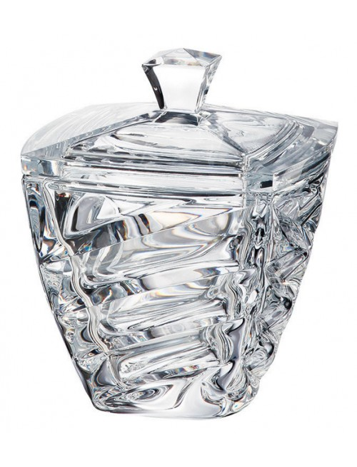Confettiera Facet, vetro trasparente, diametro 180 mm