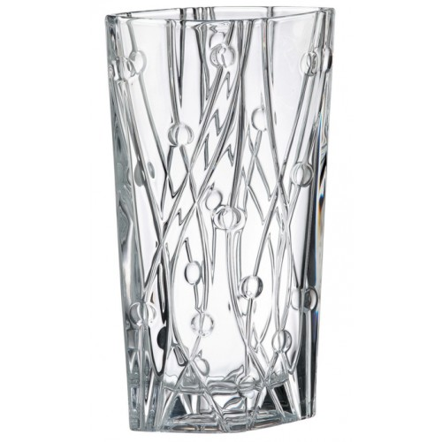 Vaso Labyrint, vetro trasparente, altezza 355 mm