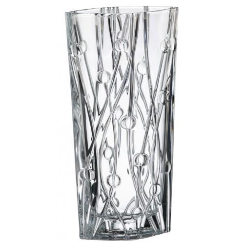 Vaso Labyrint, vetro trasparente, altezza 405 mm