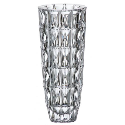 Vaso Diamond, vetro trasparente, altezza 330 mm