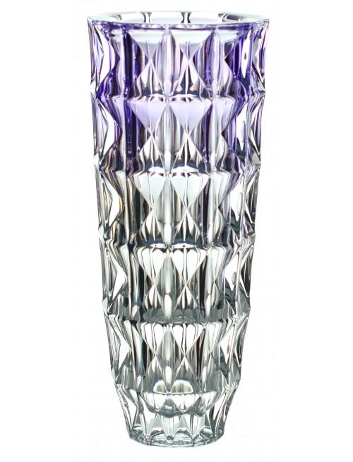 Vaso Diamond, vetro trasparente - viola, altezza 330 mm