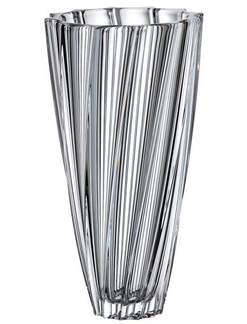 Vaso Scallop, vetro trasparente, altezza 355 mm