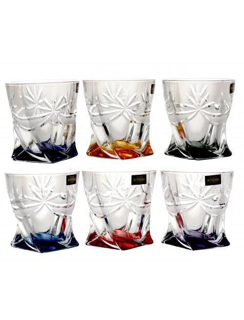 Set bicchieri Fiocchi 6x, vetro, multicolore, volume 340 ml