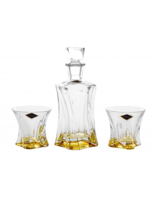 Set Whisky Cooper 1+2, vetro, colore ambra
