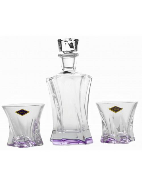 Set Whisky Cooper 1+2, vetro, colore viola