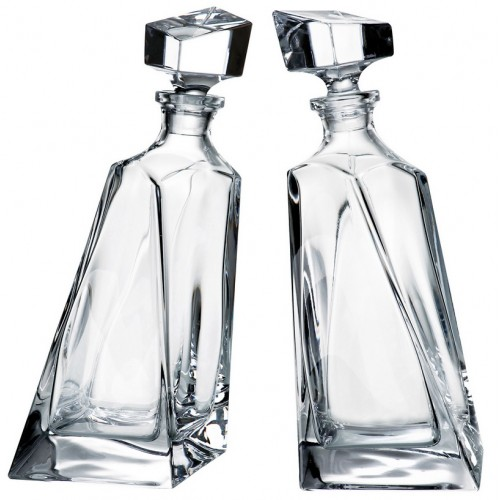 Set bottiglie Lovers 1+1, vetro trasparente