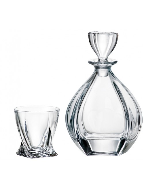 Set Whisky Laguna 1+6, vetro trasparente