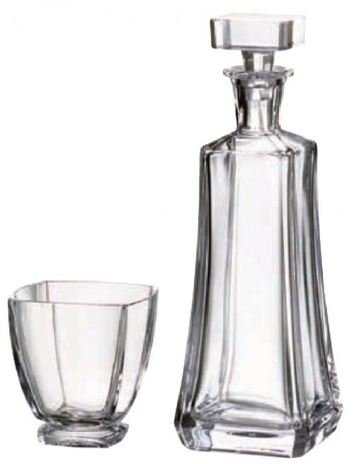 Set Whisky Arezzo 1+6, vetro trasparente