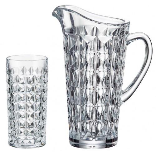 Set Diamond 1+6, vetro trasparente