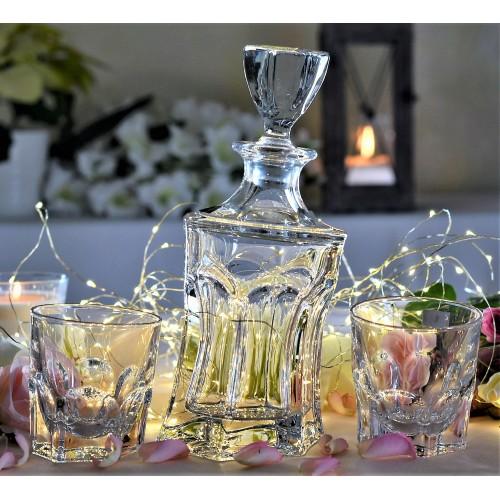 Set Whisky Acapulco 1+6, vetro trasparente