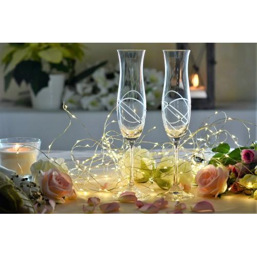 Set bicchieri Ellen 2x, vetro trasparente, volume 200 ml