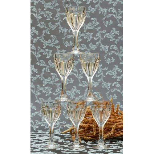 Set bicchieri Safari 6x, vetro trasparente, volume 190 ml
