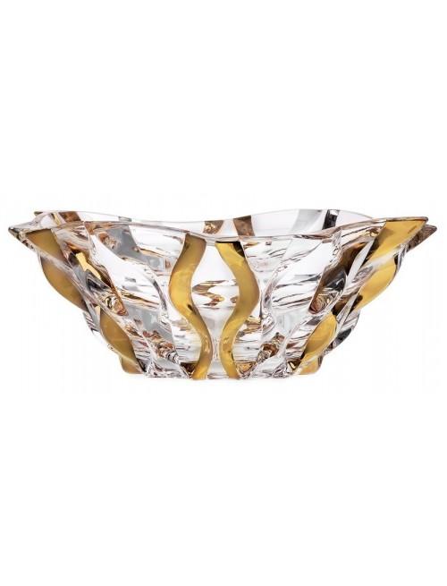 Insalatiera Samba, vetro trasparente dipinto oro, diametro 305 mm