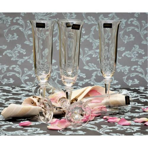 Set Bicchieri Branta 6x, vetro trasparente, volume 175 ml