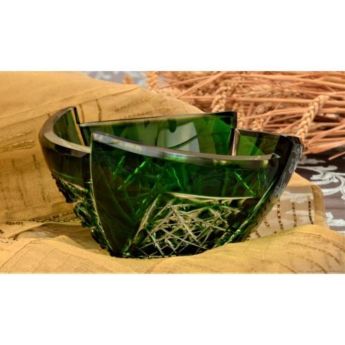Insalatiera Fan, cristallo, colore verde, diametro 180 mm