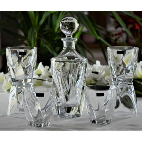 Set whisky Barley 1+6, vetro trasparente