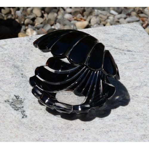 Conchiglia, cristallo, colore nero, altezza 140 mm