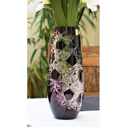Vaso Frost, cristallo, colore viola, altezza 300 mm