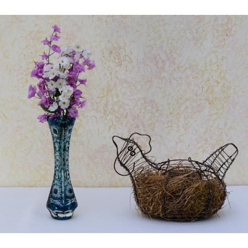 Vaso Petra, cristallo, colore azzurro, altezza 205 mm