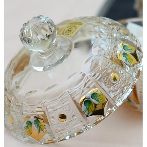 Set 500PK, cristallo trasparente dipinto oro - 15 pezzi
