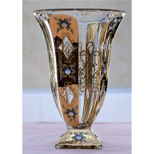 Vaso Oro, vetro trasparente, altezza 360 mm