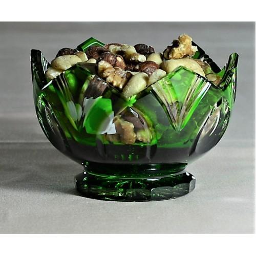Ciotola Lotos, cristallo, colore verde, diametro 104 mm