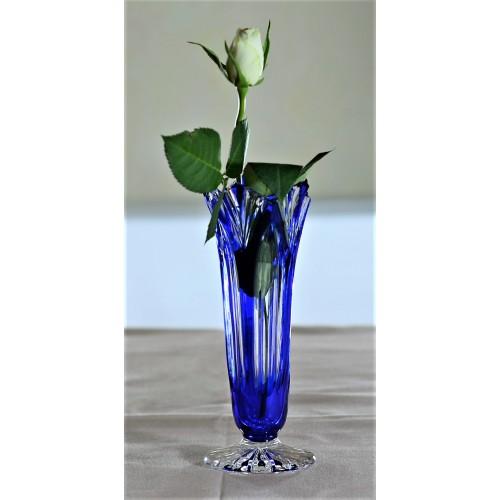 Vaso Lotos, cristallo, colore blu, altezza 175 mm
