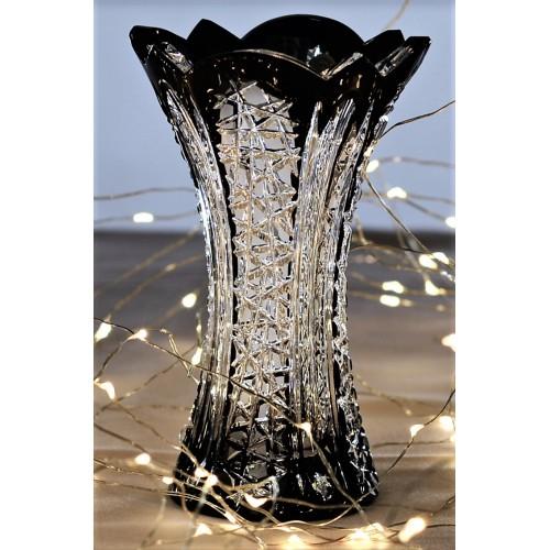 Vaso Frigus, cristallo, colore nero, altezza 155 mm