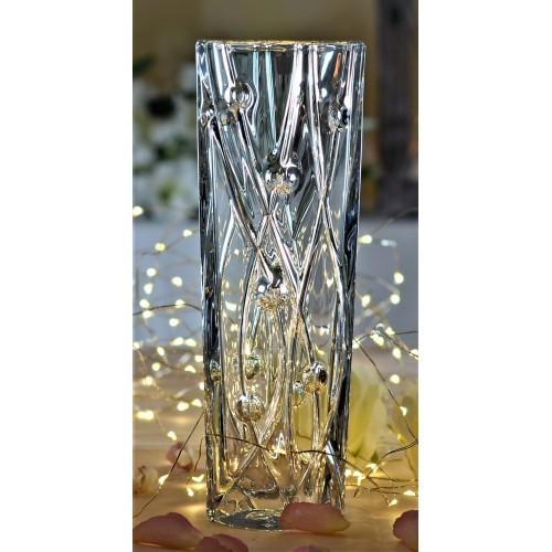 Vaso Labyrint Slim, vetro trasparente, altezza 255 mm