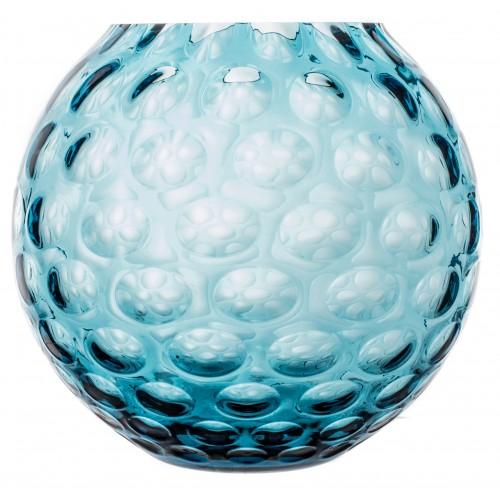 Vaso Ottica, vetro, colore azzurro, altezza 255 mm