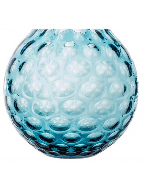 Vaso Ottica, vetro, colore azzurro, altezza 205 mm