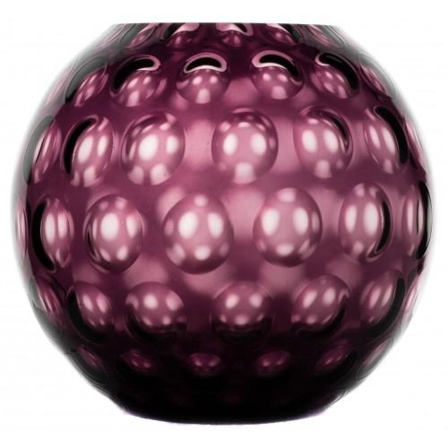 Vaso Ottica, vetro, colore viola, altezza 255 mm