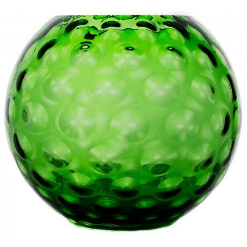 Vaso Ottica, vetro, colore verde, altezza 255 mm